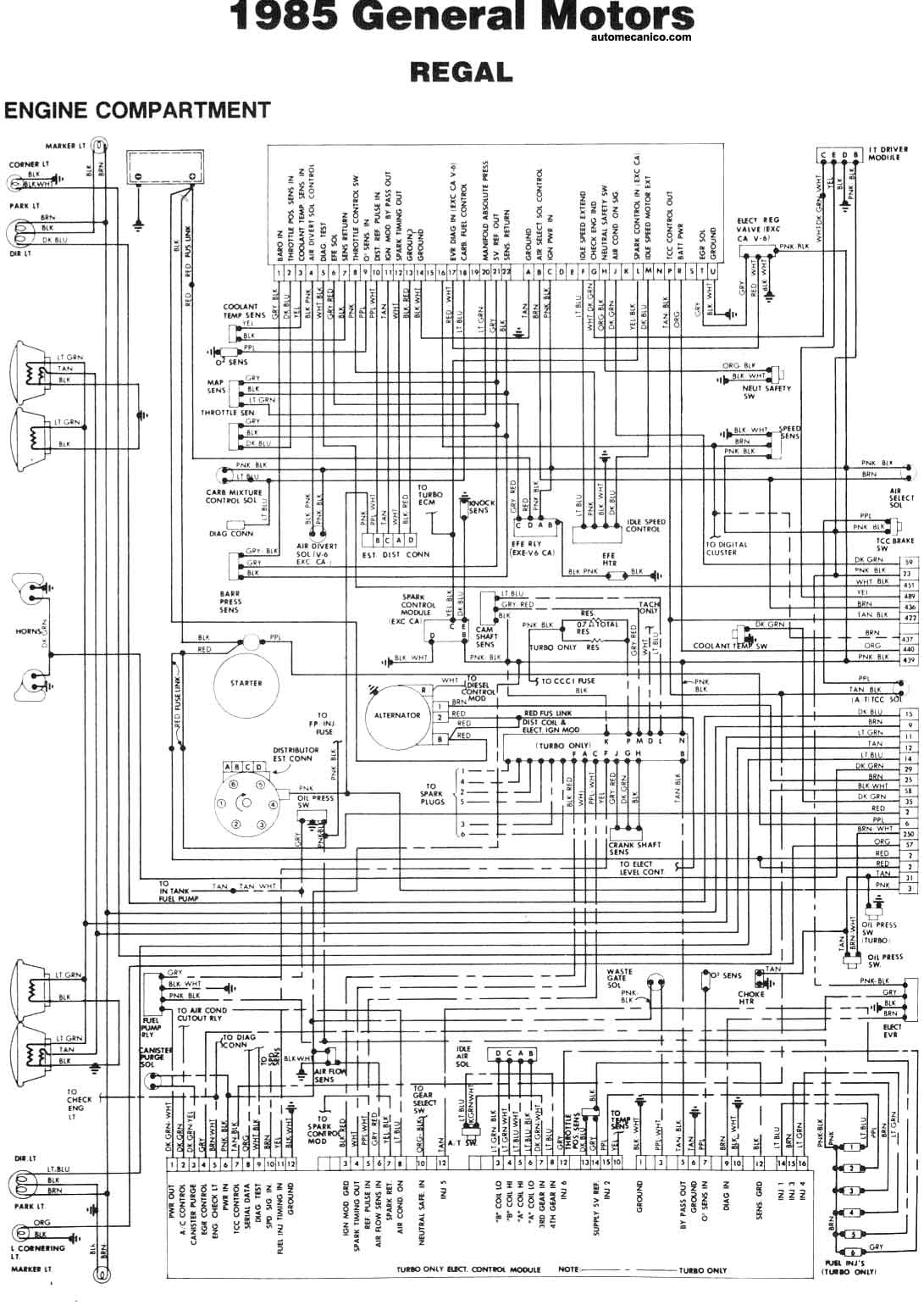 a wiring diagram for 1986 lebaron buick diagramas electricos 1985 esquemas  graphics  buick diagramas electricos 1985 esquemas  graphics