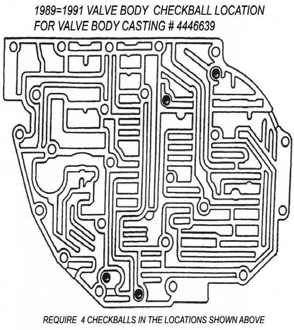valve body main case checkball locations