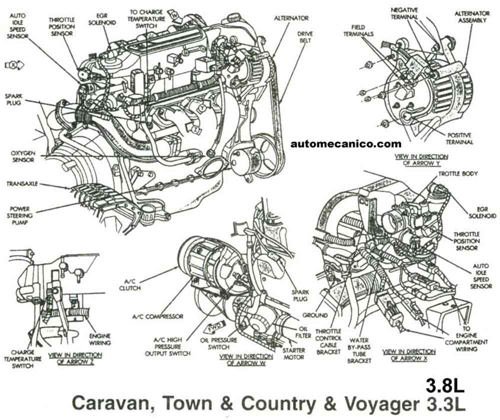 Dodge 5 9l Engine Diagram on 2000 durango heater box