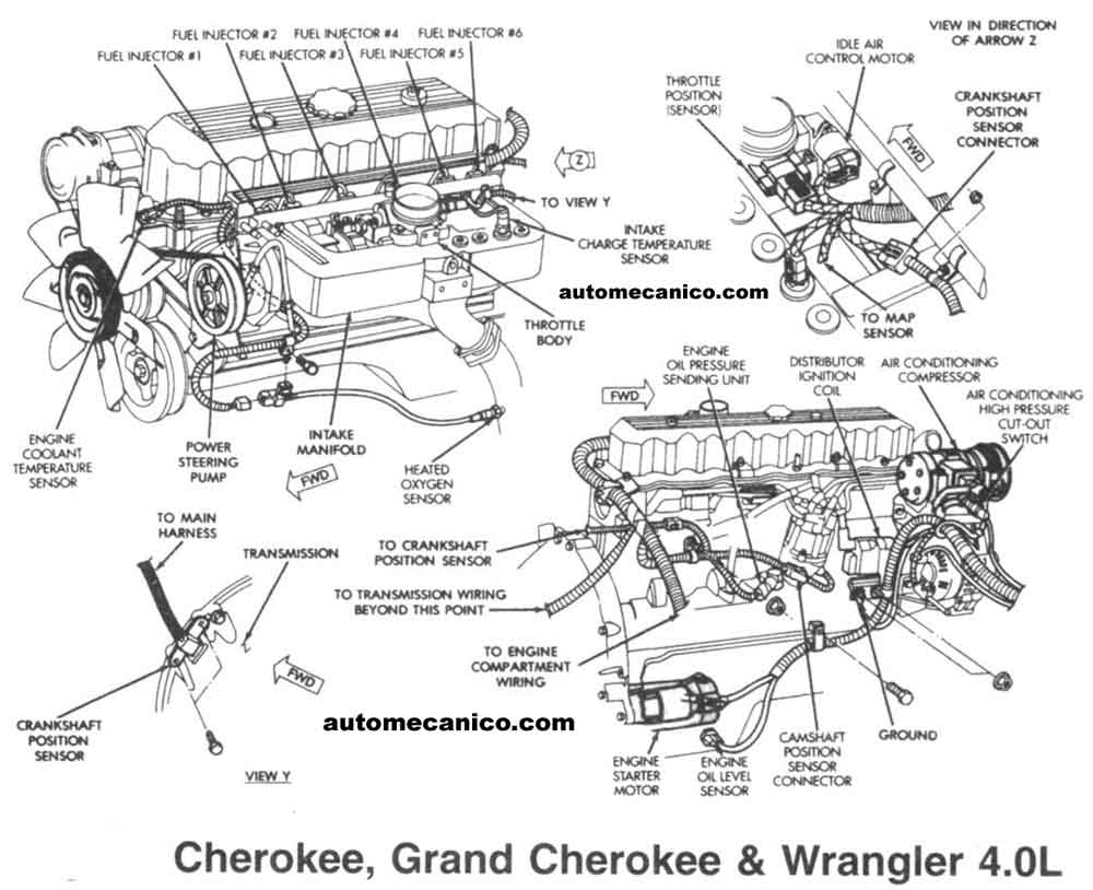 2004 jeep grand cherokee inline 6 engine diagram  2004