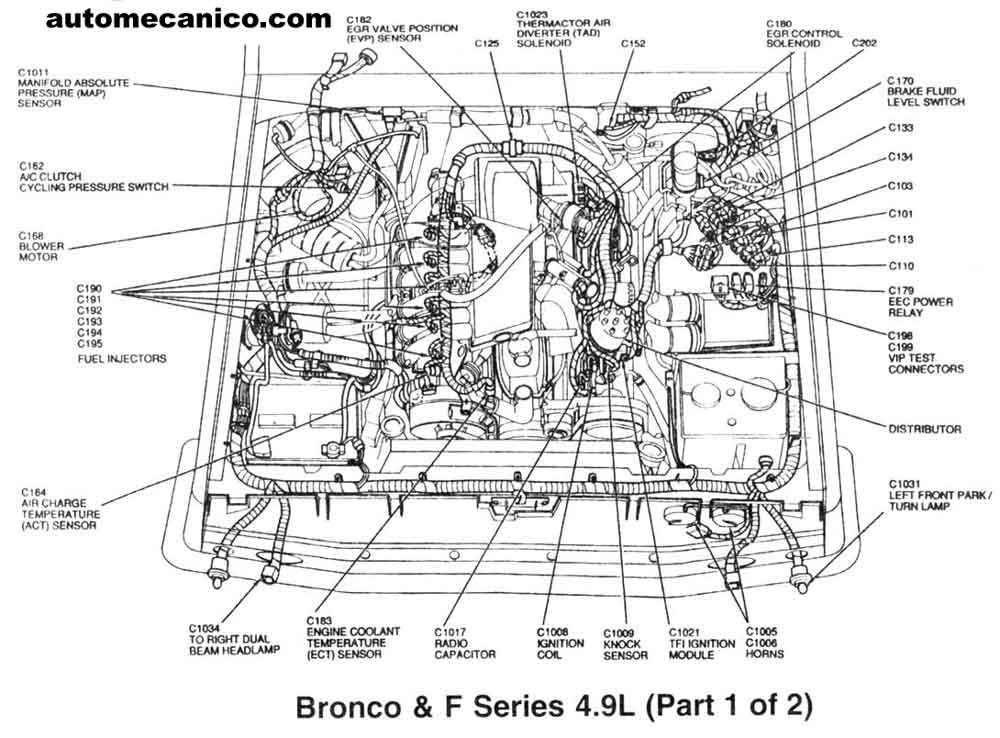 ford 4 9 engine diagram automotive wiring diagram