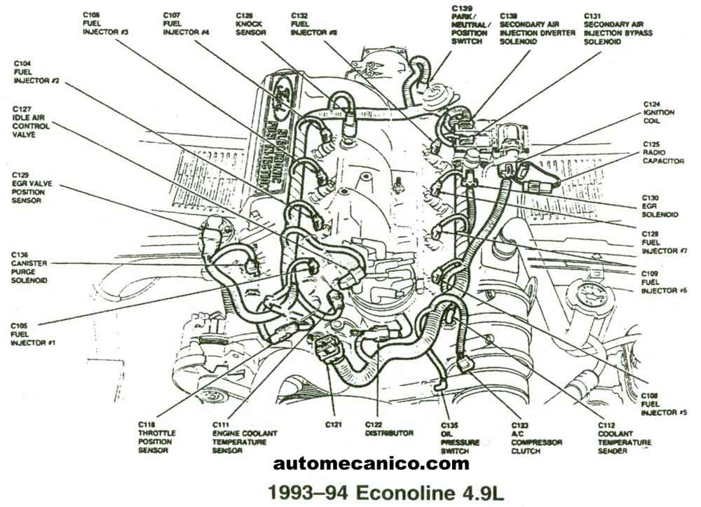 ford 4 9l engine cylinder diagram  ford  free engine image