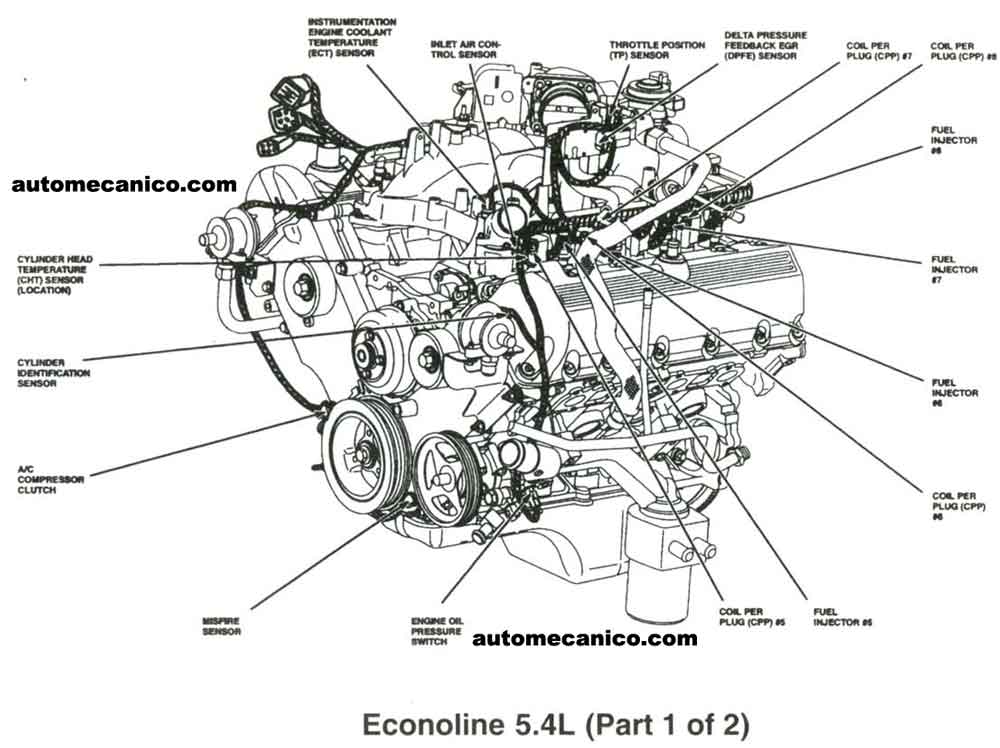 1970 ford 5 4l engine diagram