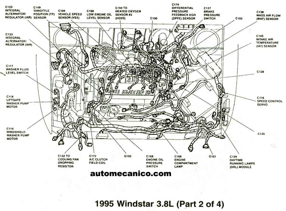 pin 1998 ford windstar engine diagram on pinterest