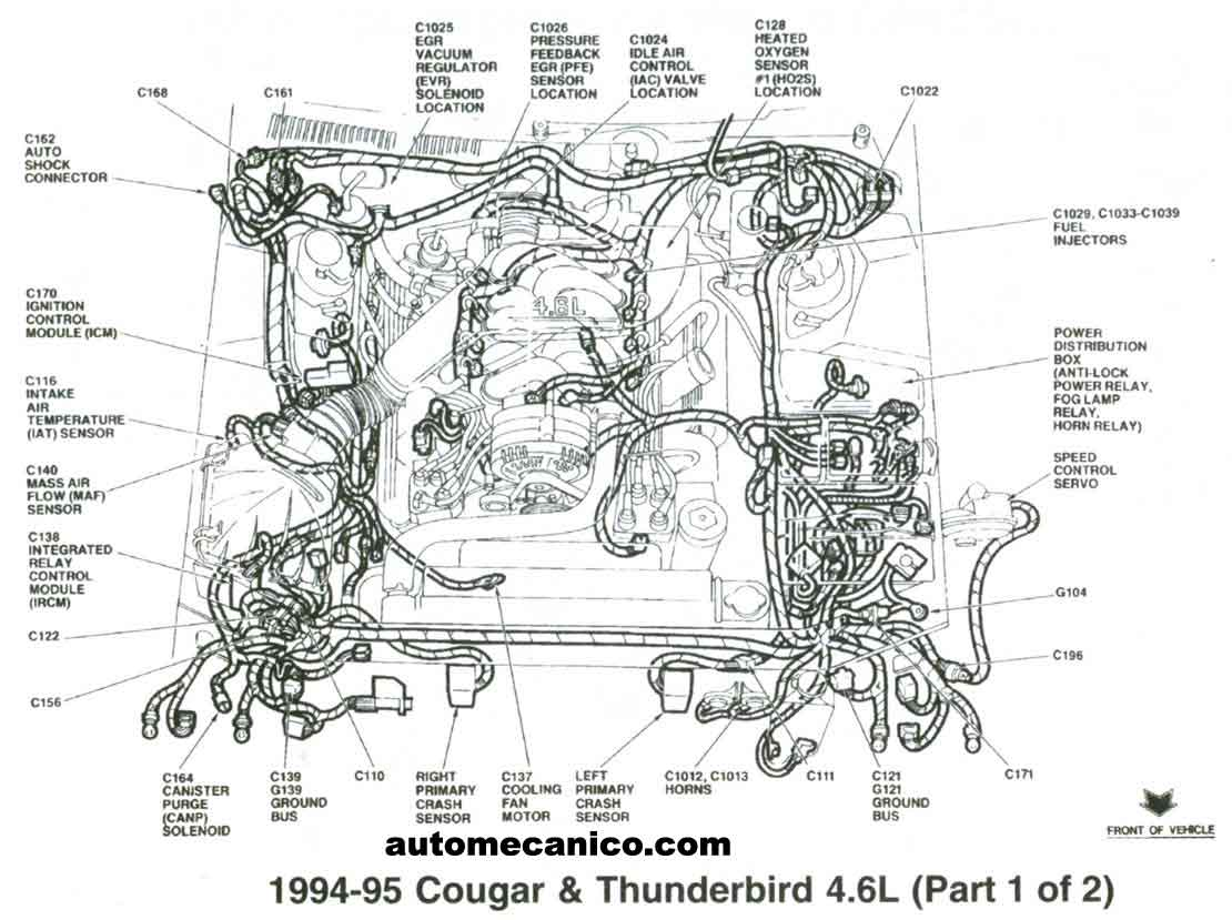 Mercury 4 6 Engine Diagram Best Electrical Circuit Wiring 92 Cougar 1992 Grand Marquis Library Rh Codingcommunity De Ford 46 V8