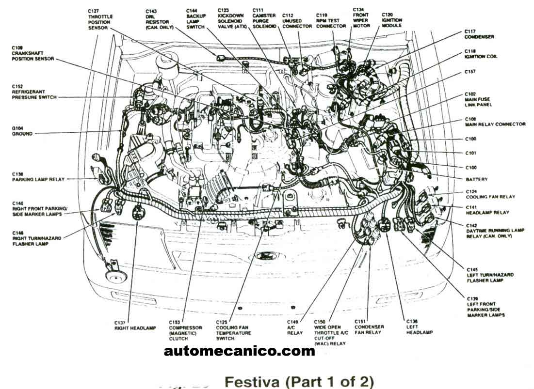 Wiring Diagram For Ford Aspire 1997 1995 1994 Fuse Box 26 Images