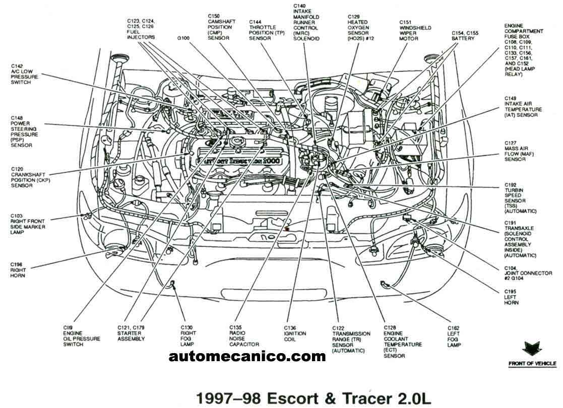 Ford Contour 2 0 Engine Diagram Wiring Diagrams Focus Zetec 98 Get Free Image About 2002