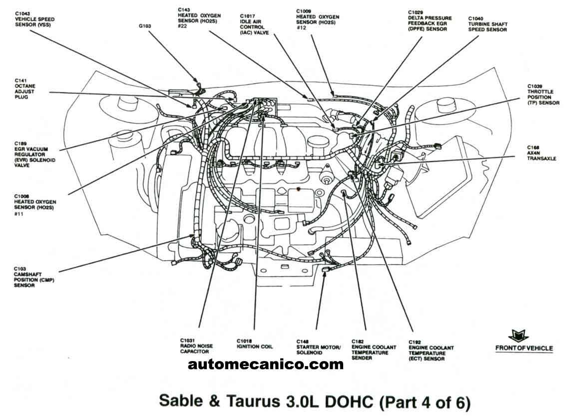 1996 ford taurus dohc diagram
