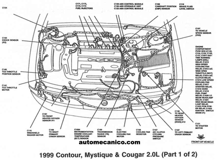 Ford Focus 2 3 Engine Diagram on ford contour starter location