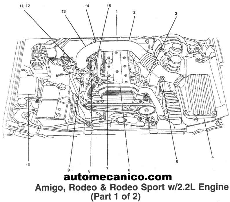 engine diagram isuzu rodeo 1998 engine wiring diagrams online