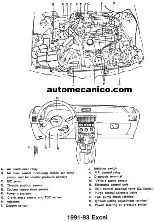 1995 1996 hyundai accent electrical troubleshooting manual original