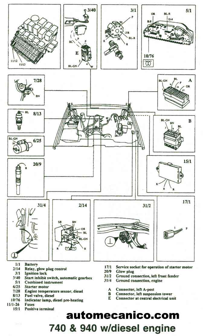 1997 volvo 960 engine diagram