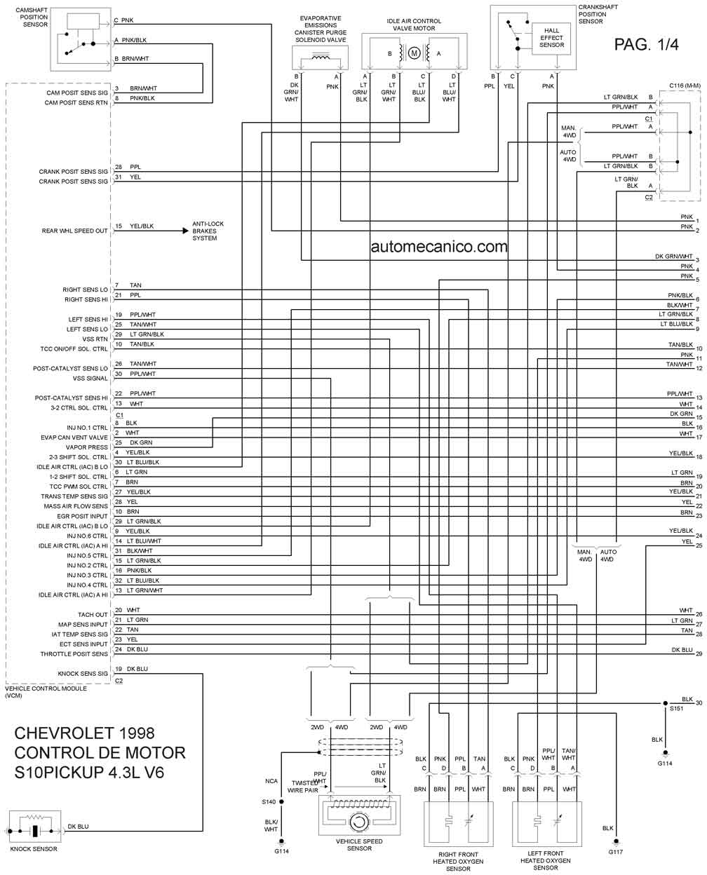Chevrolet 1998 Diagramas Esquemas Graphics