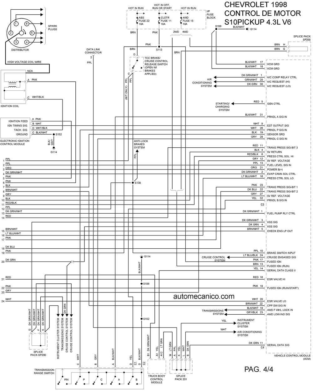 diagramas electricos automotrices chevrolet gratis