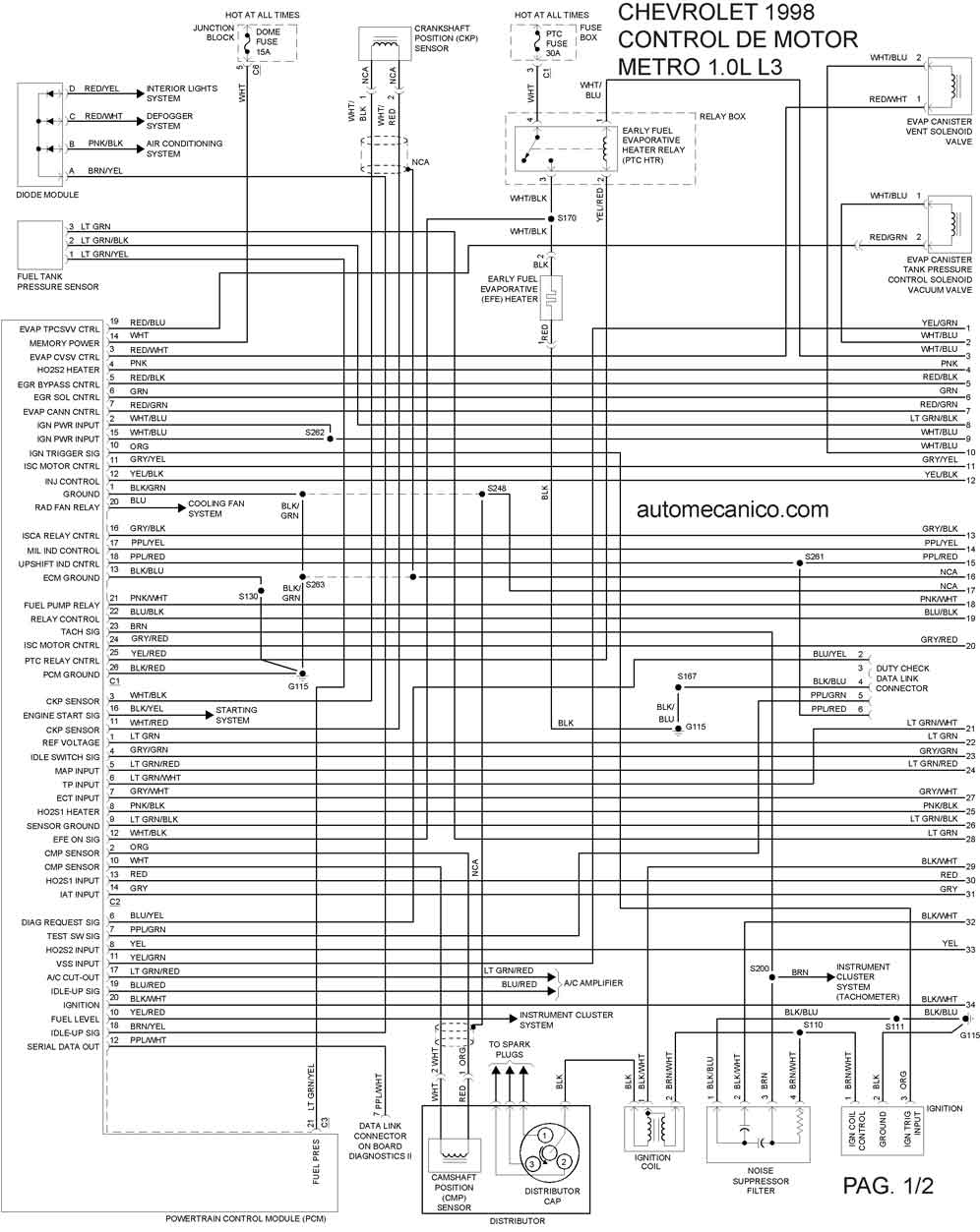 chevy aveo 2005 electrical diagram