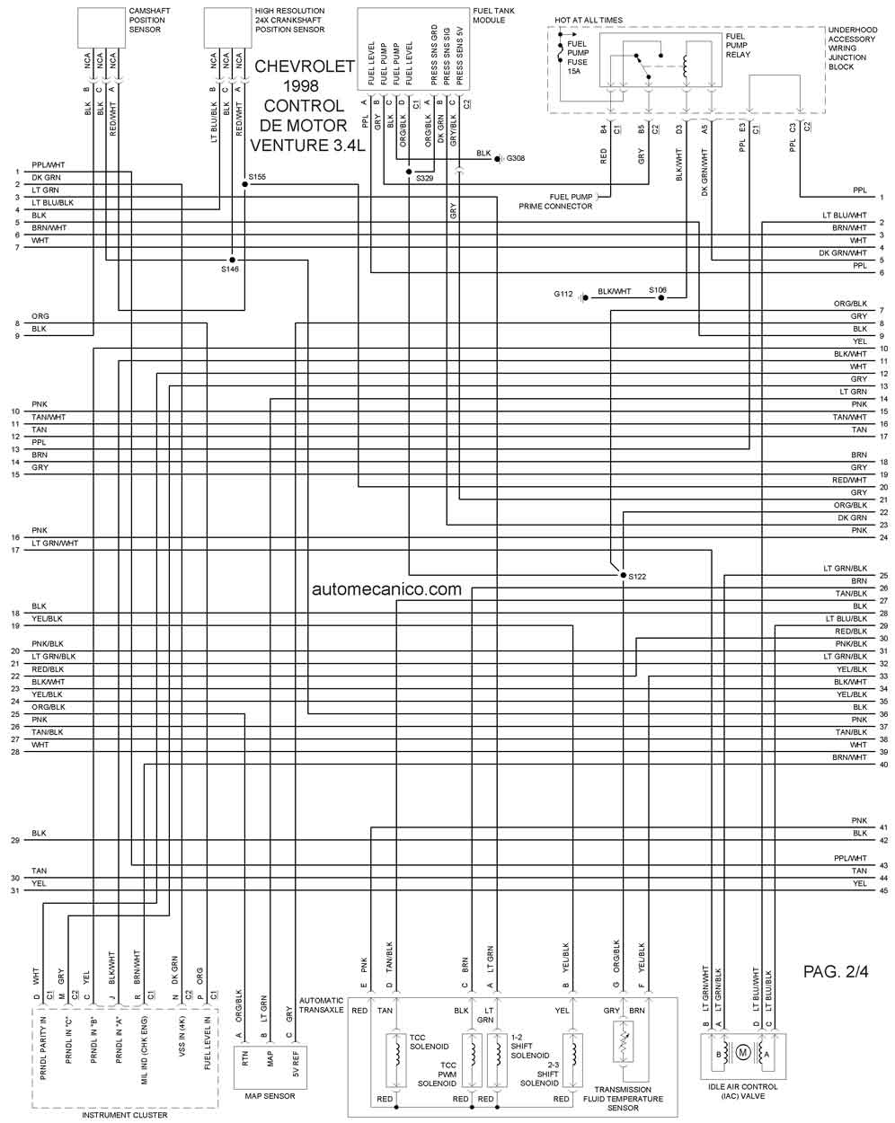 diagrama de fusibles del chevy  diagrama  free engine image for user manual download