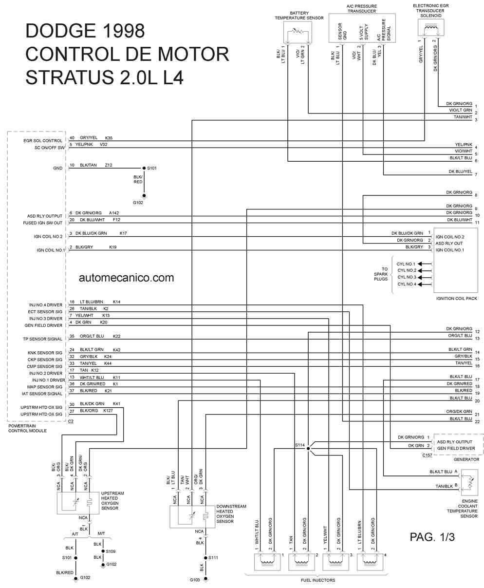 Stratus on 2006 Dodge Stratus Timing Belt Diagram