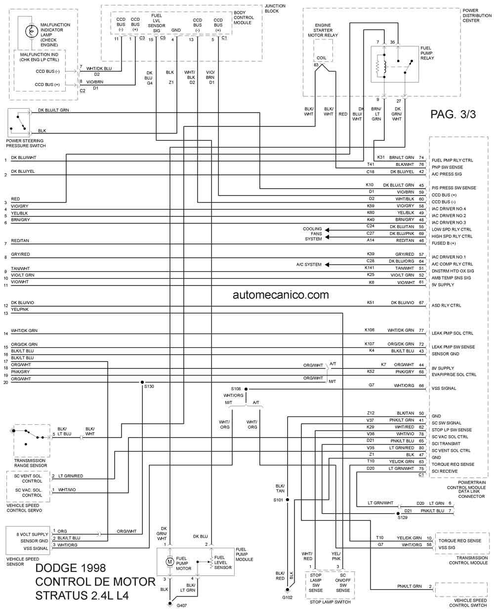 Dodge|Diagramas-Esquemas|vehiculos-Motor1998|mecanica ...