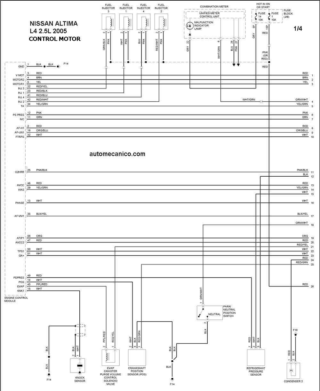 altima0525001 Nissan Altima Fuse Box Diagram on