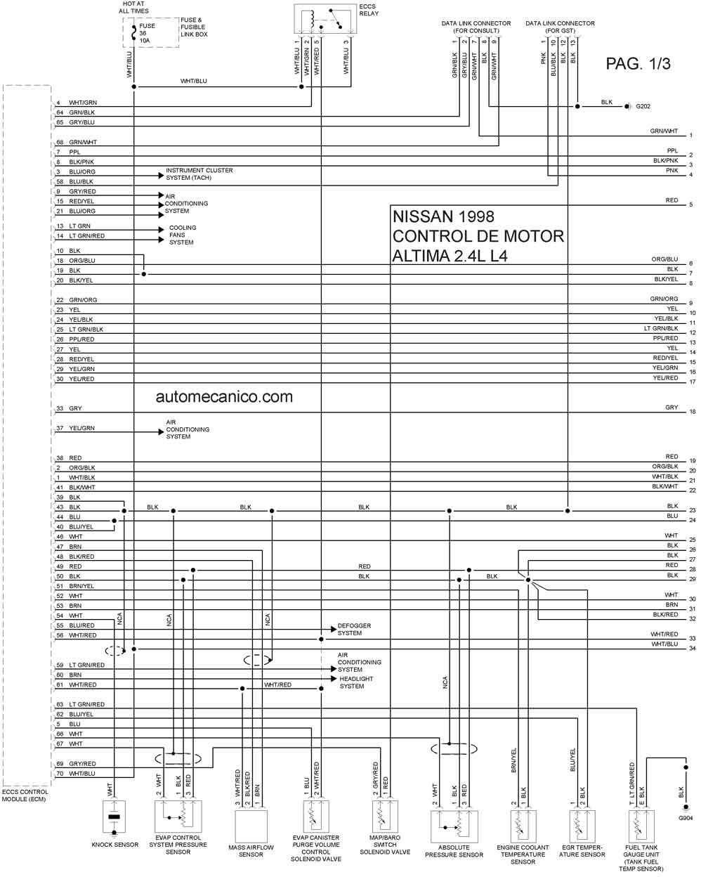 Nissan 1998 | Diagramas - Esquemas - Graphics | vehiculos ...