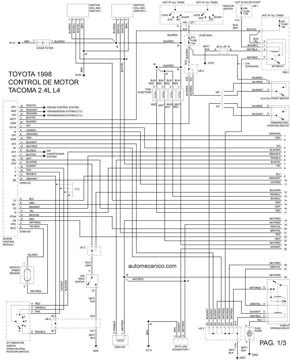1994 mustang v6 wiring diagram toyota 1998 diagramas esquemas graphics vehiculos 2005 mustang v6 engine diagram