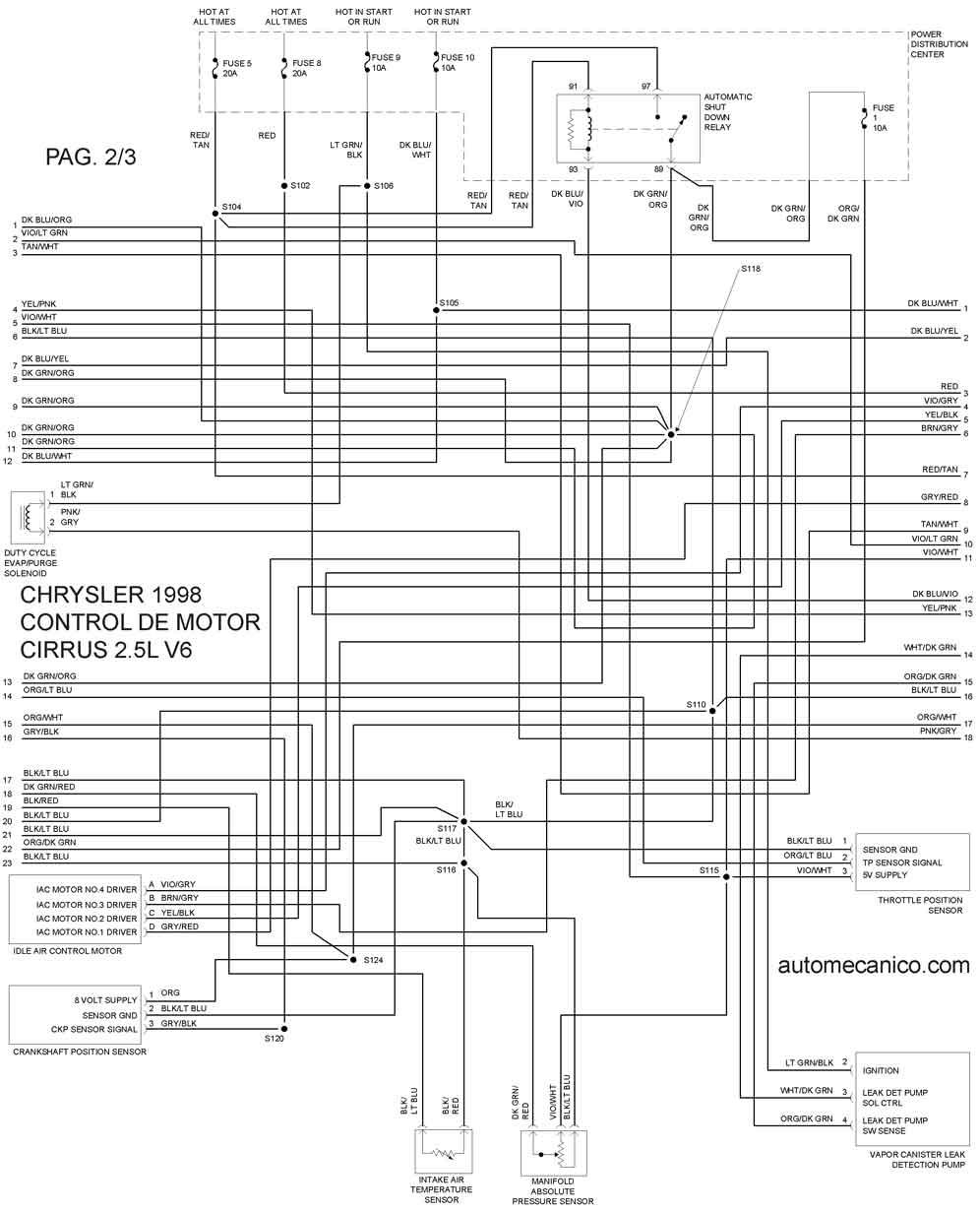 Cirrus on 2003 Dodge Stratus Fuse Diagram