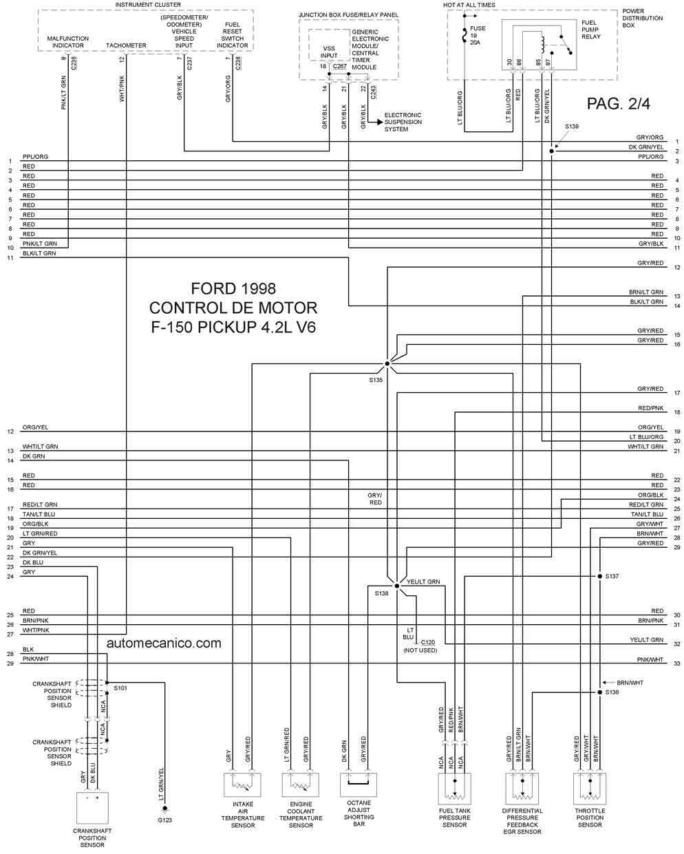 Ford 1998DiagramasEsquemasGraphicsvehiculosmotoresmecanica
