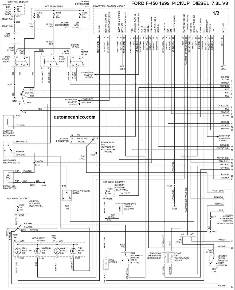 F Pickup on Ford F 250 Super Duty Fuse Diagram