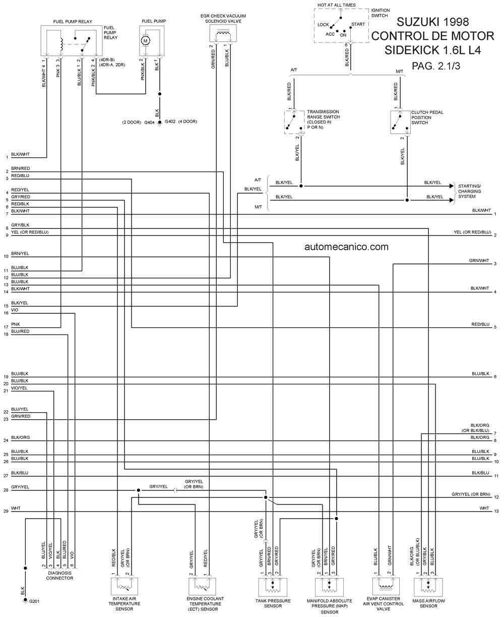 suzuki 1998 diagramas esquemas graphics vehiculos