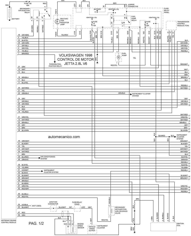 volkswagen 1998 diagramas esquemas graphics vehiculos rh autoelectronico com diagrama electrico jetta a4 gratis diagrama electrico jetta a4 gratis