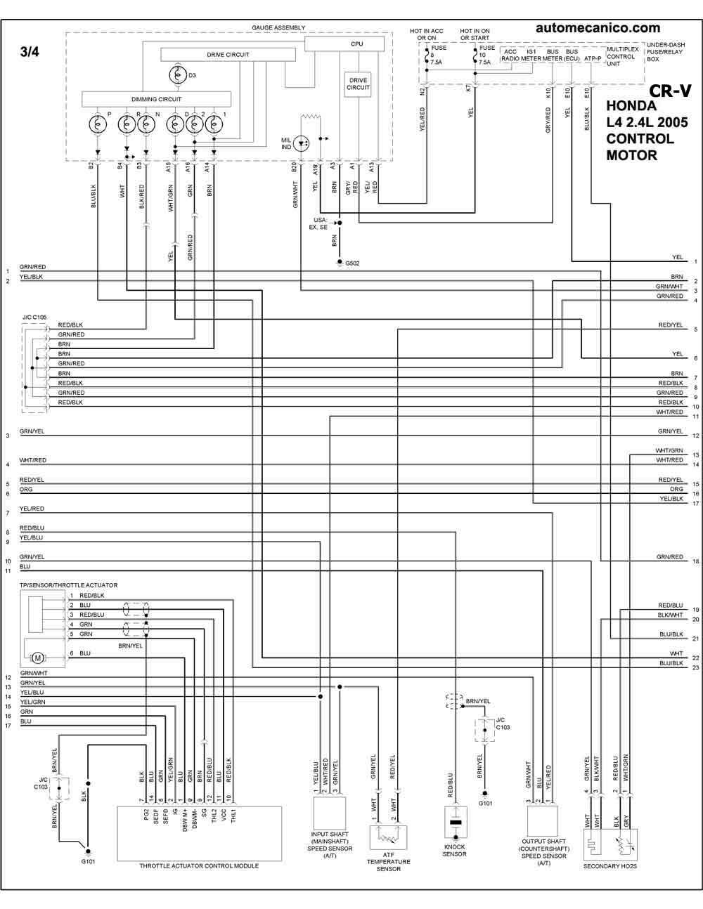 honda 2005 diagramas esquemas graphics vehiculos motores rh autoelectronico com honda cr v diagrama electrico esquema electrico honda crv 2002