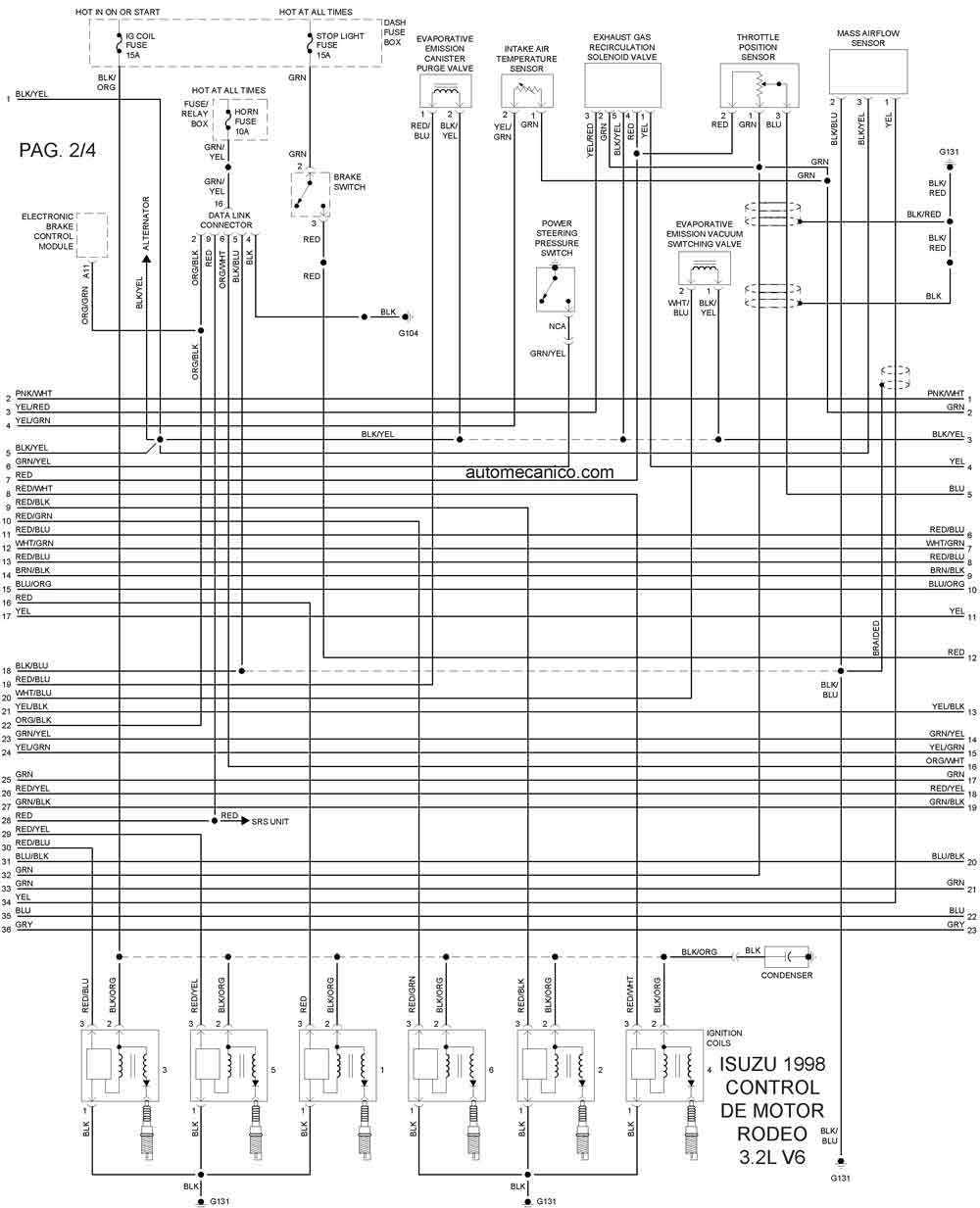 isuzu 1998 diagramas esquemas graphics vehiculos motores rh autoelectronico com