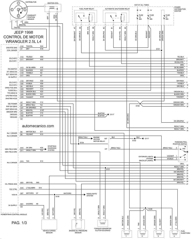 diagramas de electronico transmision jeep 2001  jeep  auto