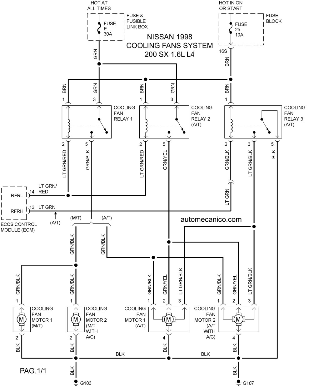 200XScf9816001 Nissan Quest Wiring Diagram on