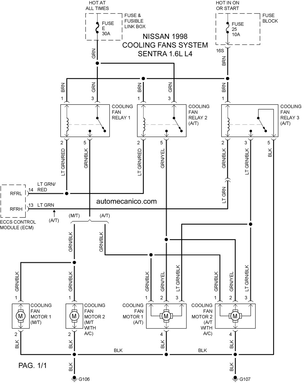 sentracf9816001 Nissan Quest Wiring Diagram on