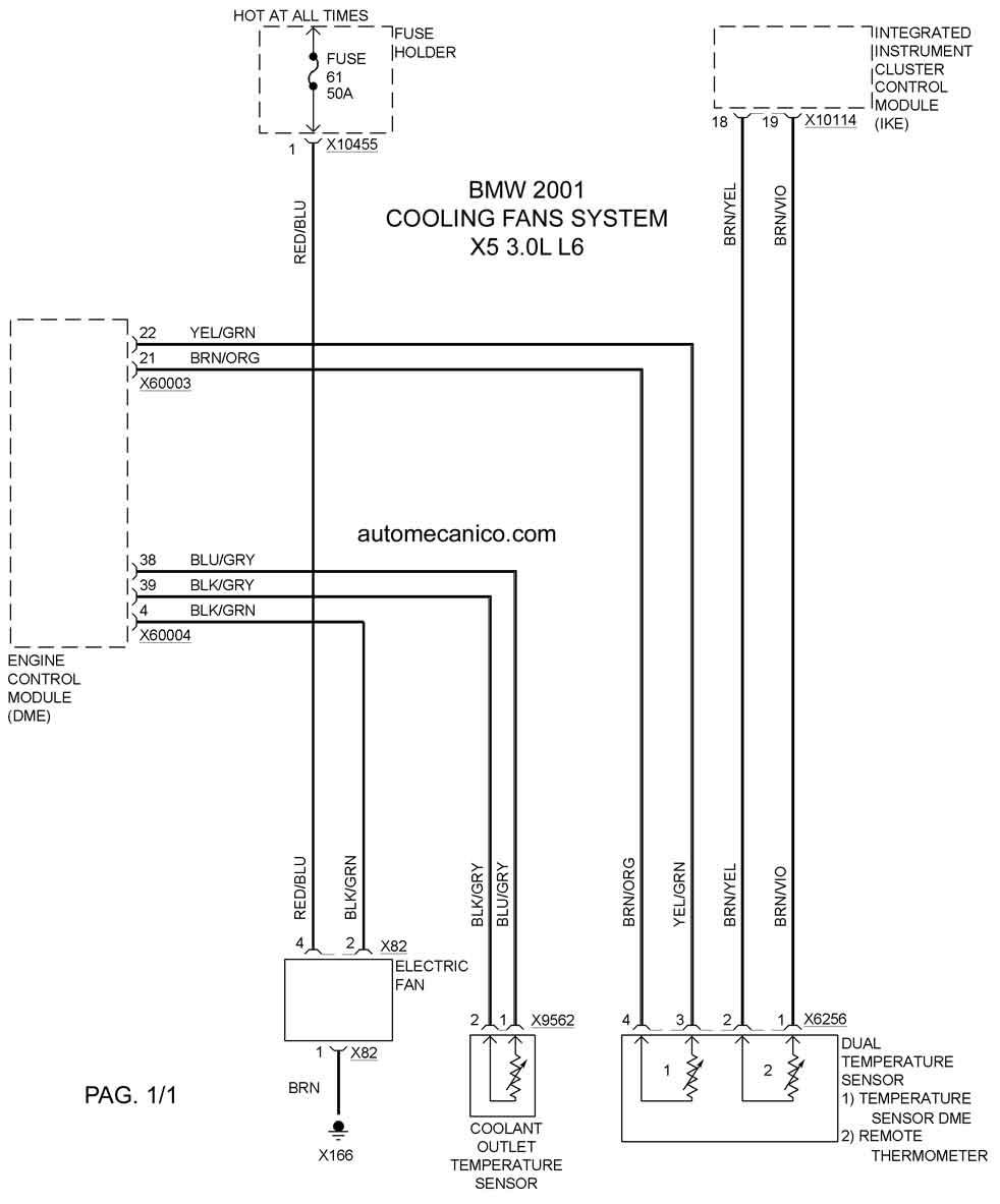 Bmw Cooling Fans System Diagramas Ventiladores