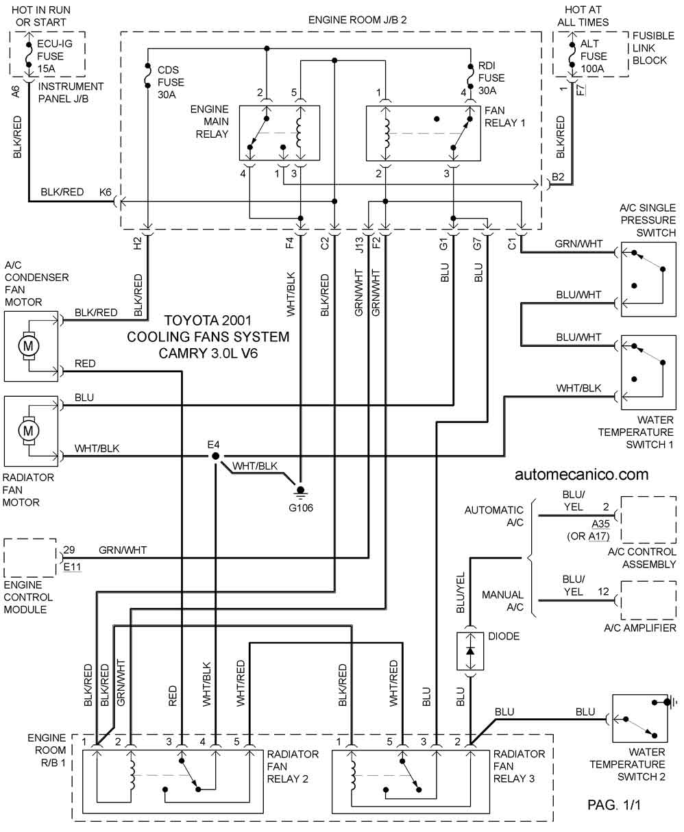 2003 Camry Diagrama Del Motor Auto Electrical Wiring Diagram Engine Toyota