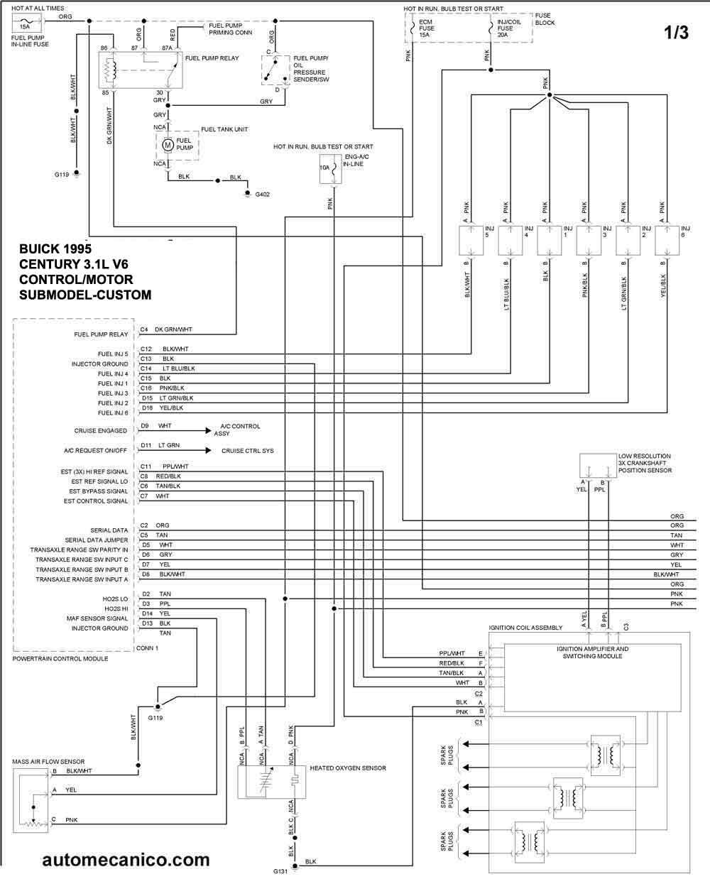 buick -1995 - diagramas control del motor
