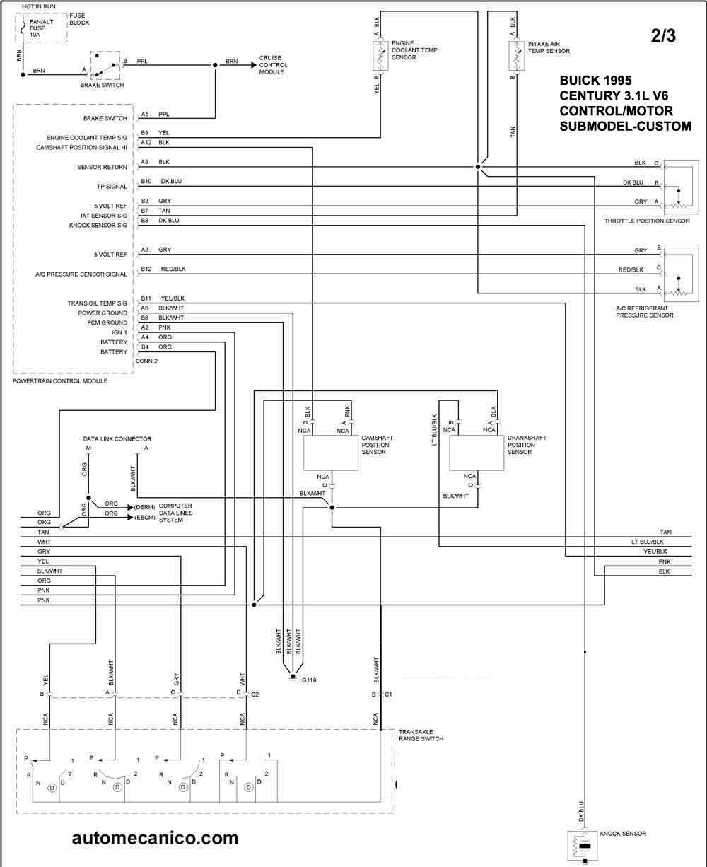 Buick 1995 Diagramas Control Del Motor Graphics Esquemas Vehiculos Motores Componentes Mecanica Automotriz