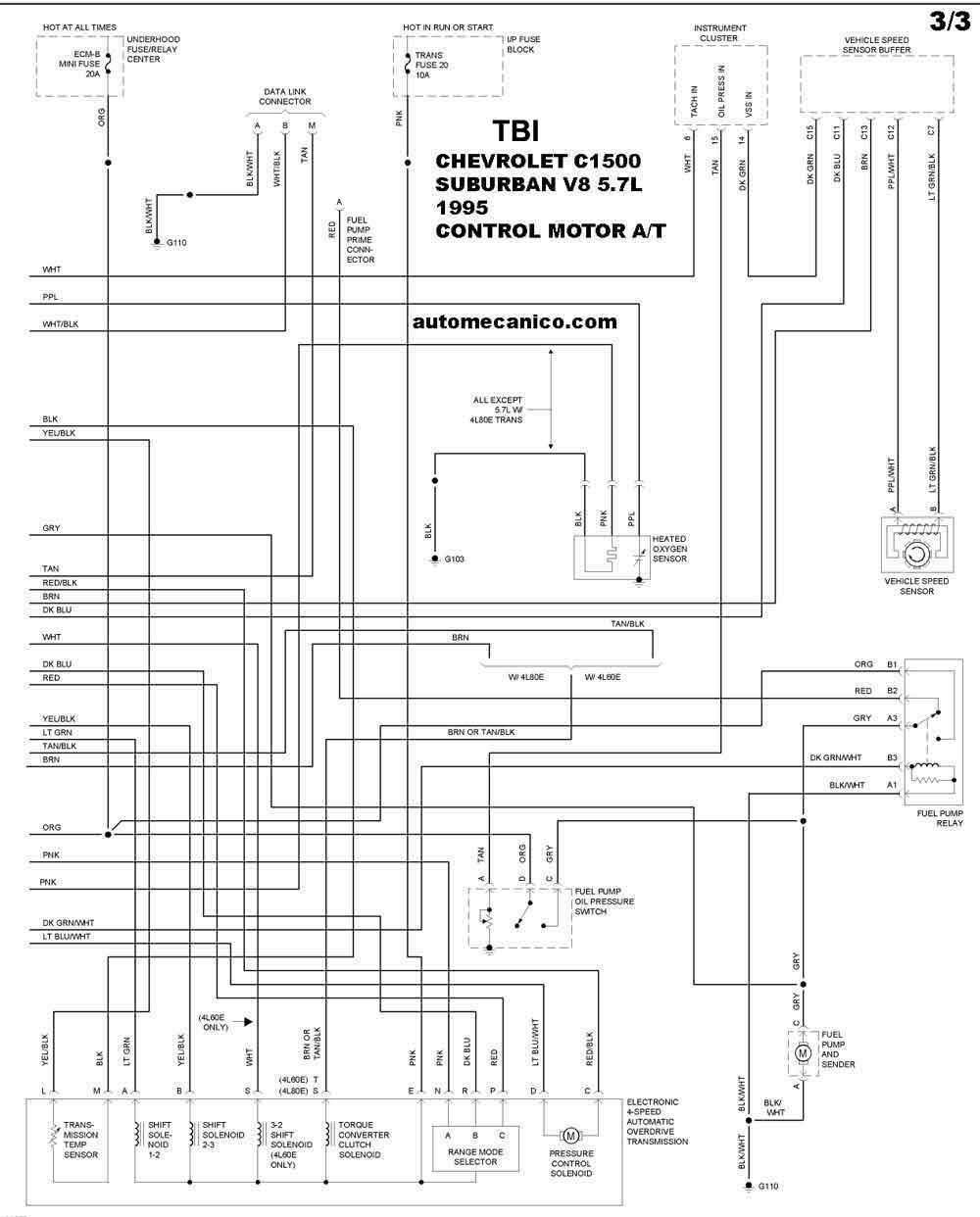 C Suburban on Diagrama De Transmision Automatica