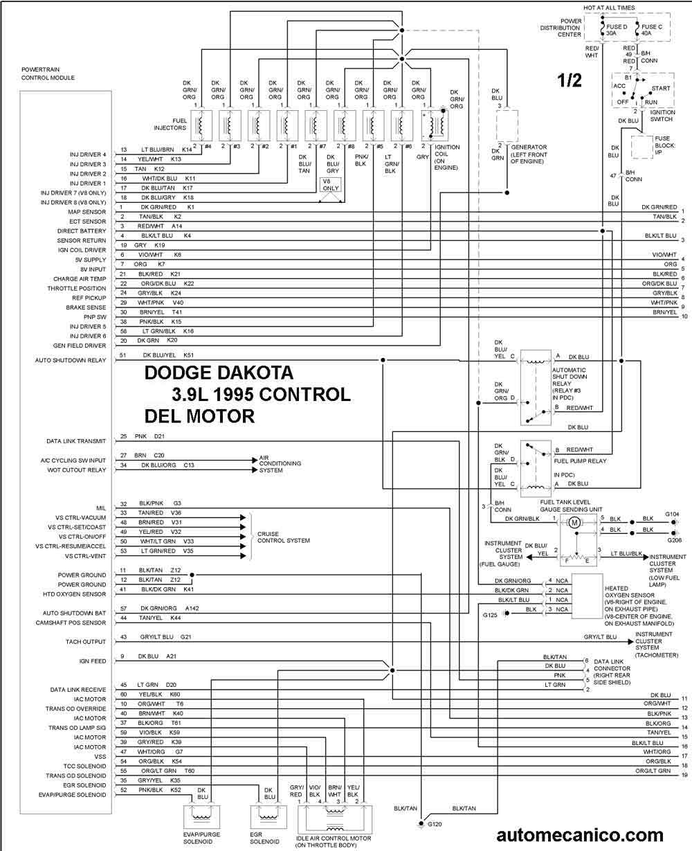 dodge  diagramas control del motor graphics
