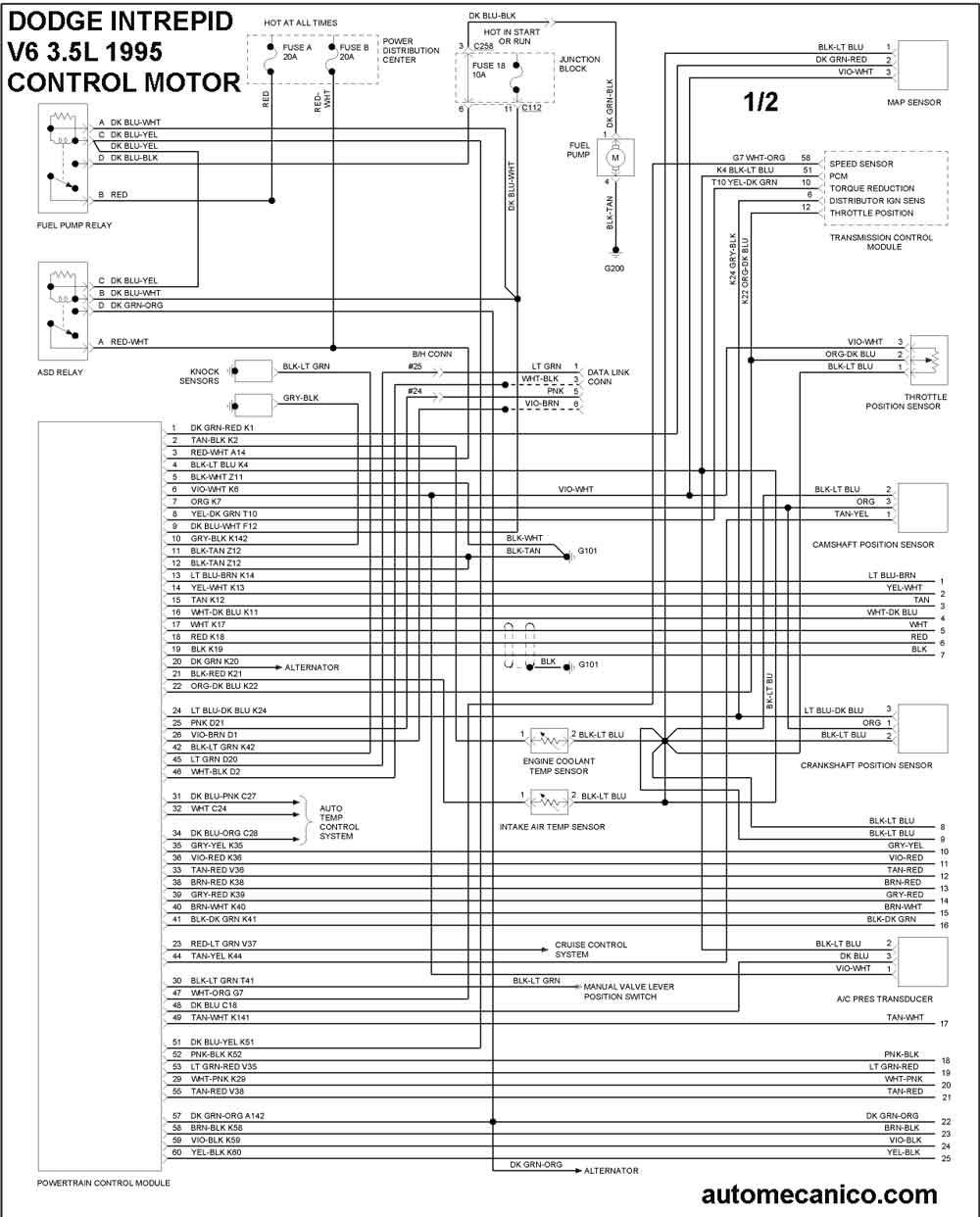 Dodge 1995 Diagramas Control Del Motor Vehiculos 1995