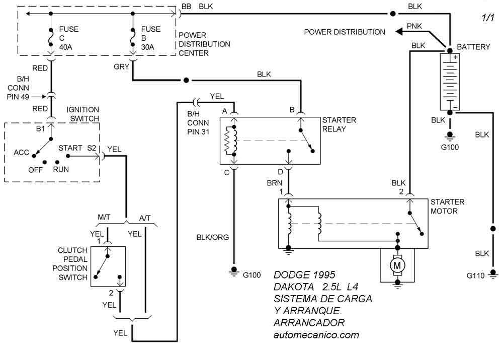 Dodge Diagramas Esquemas Sistema De Carga Y Arranque