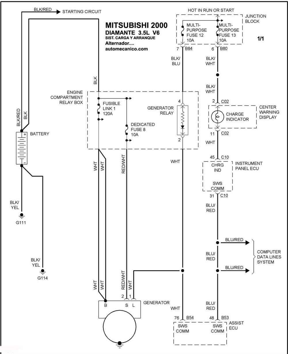 Mitsubishi - Sistema De Carga Y Arranque 2000