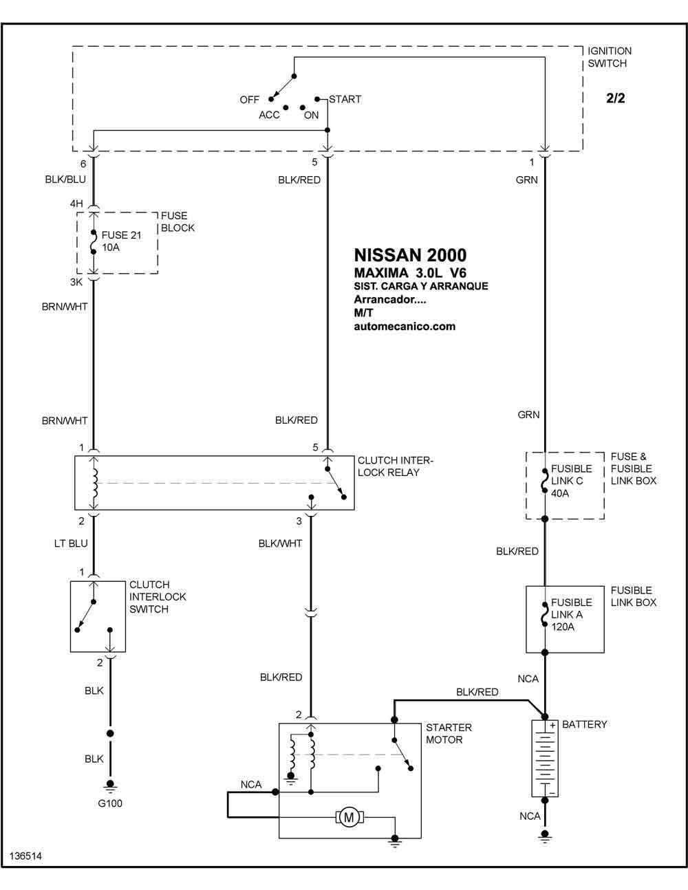 Diagrama Electrico Nissan Maxima 2000