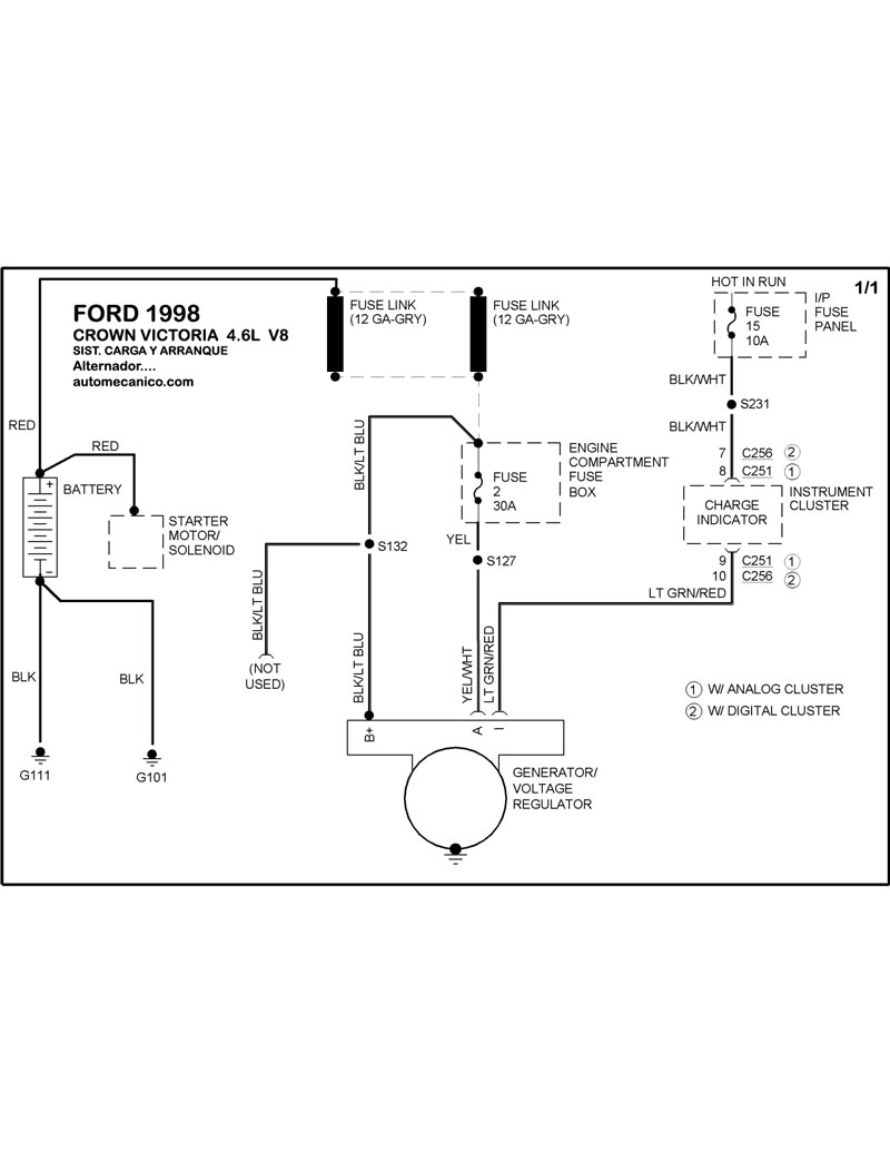 Fordca9801 in addition Mystique Under Hood Wire Harness further Wiring Diagram For 1993 Ford Taurus Sho moreover P 0900c15280217adb likewise Chevy Fuel Pump Wiring Diagram On 1997 Ford Explorer. on 1998 ford contour charging system