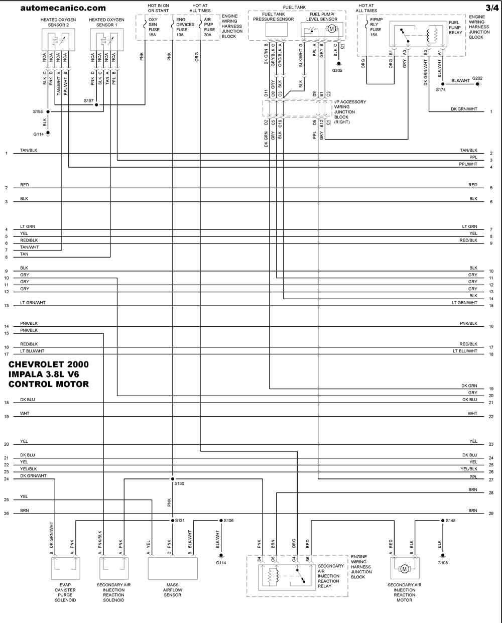 Chevrolet 2000 Diagramas Control Del Motor Vehiculos