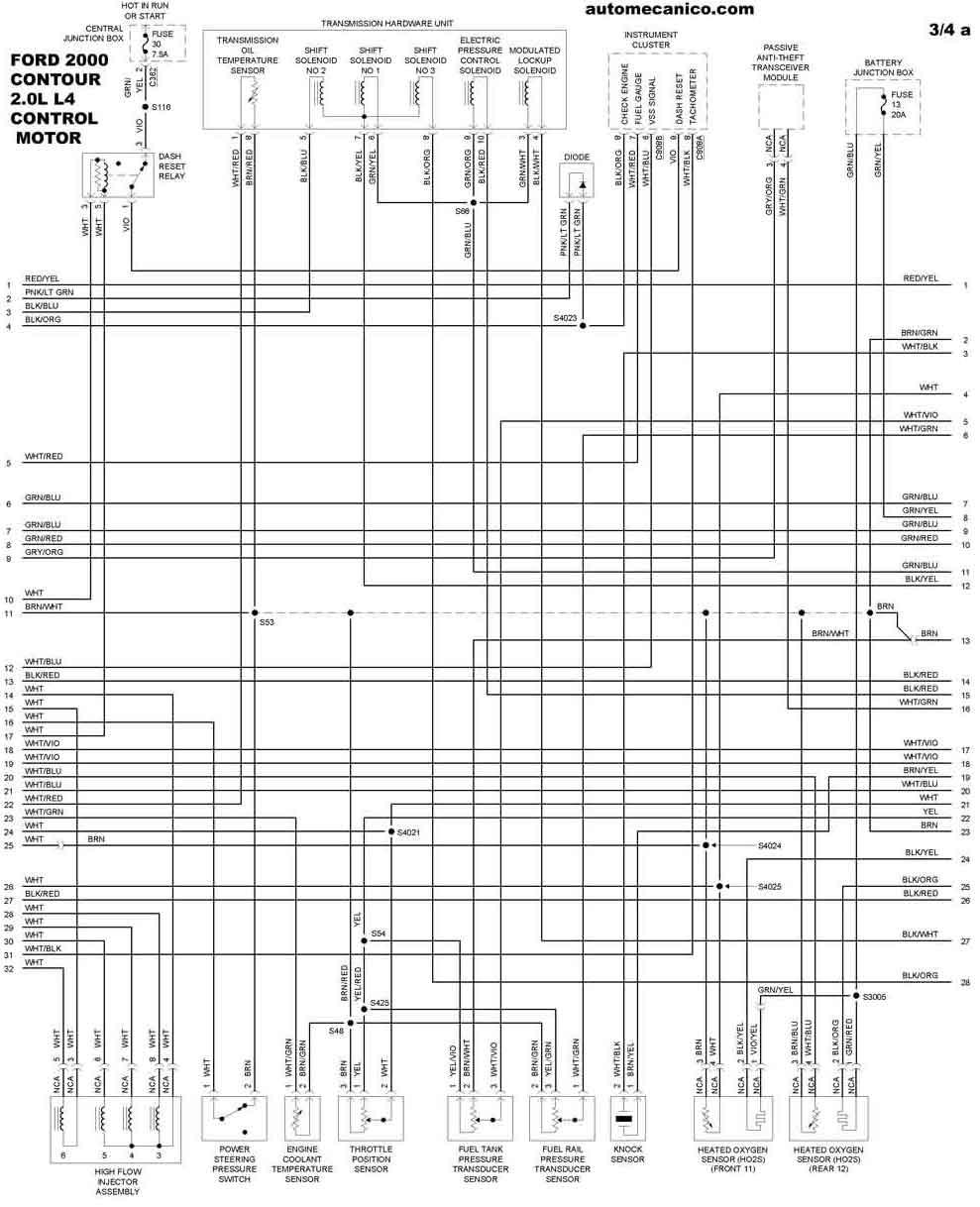 ford 2000 - diagramas control del motor - graphics - esquemas