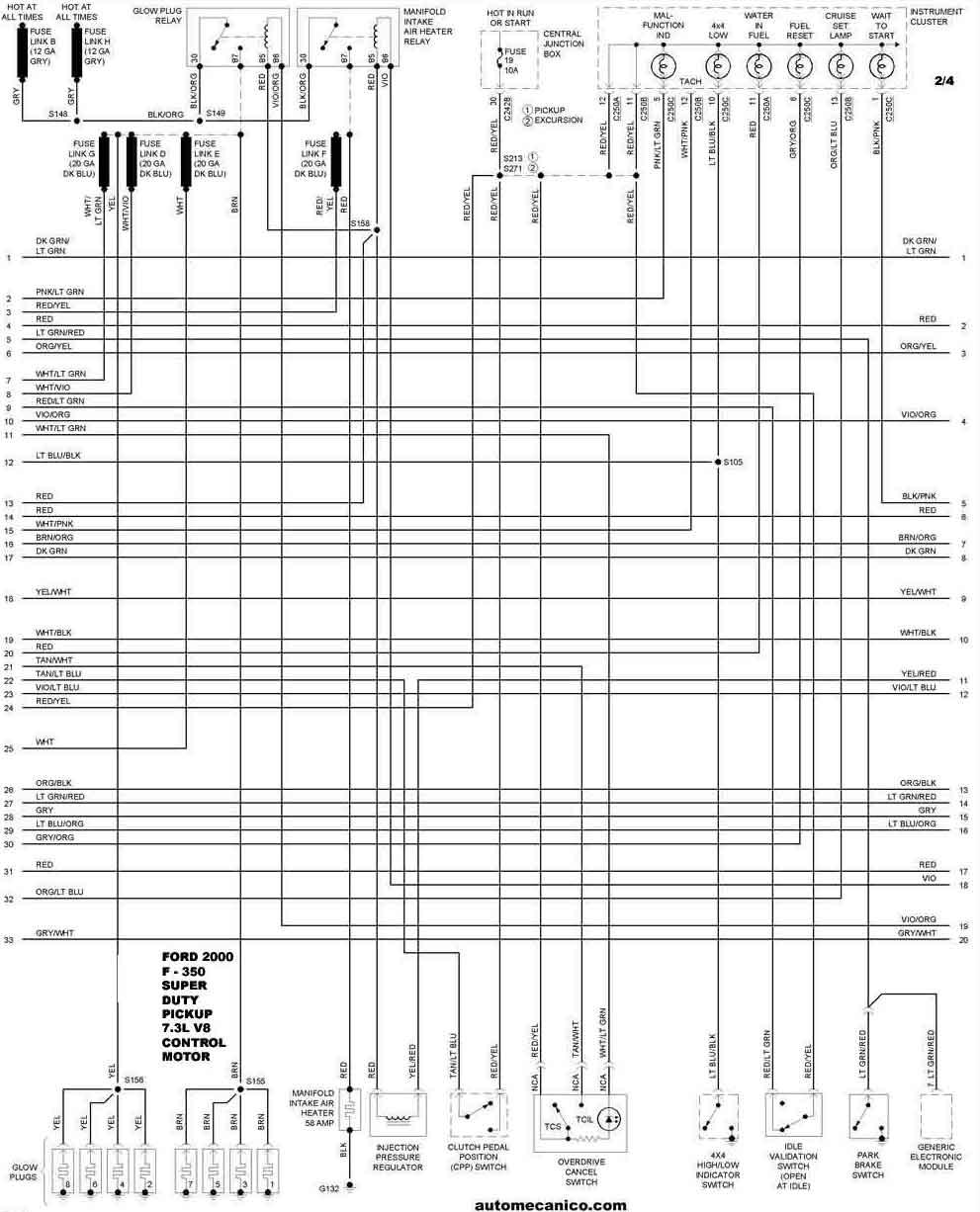 ford 2000 - diagramas control del motor