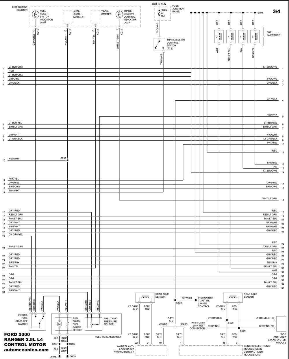 ford 2000 diagramas control del motor vehiculos